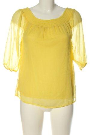 Vero Moda Carmen-Bluse blassgelb Casual-Look