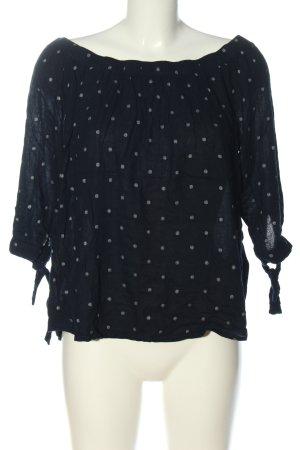 Vero Moda Carmen-Bluse schwarz-weiß Punktemuster Casual-Look