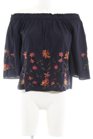 Vero Moda Carmen-Bluse dunkelblau Blumenmuster
