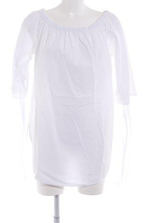 Vero Moda Carmen-Bluse weiß schlichter Stil