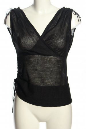 Vero Moda Top de corte imperio negro moteado look casual