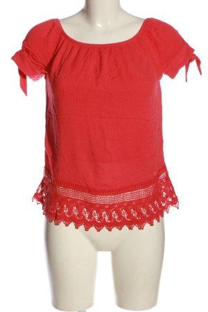 Vero Moda Koszula typu carmen czerwony W stylu casual