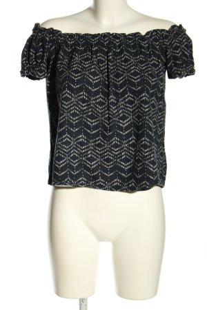 Vero Moda Carmen shirt zwart-wit volledige print casual uitstraling