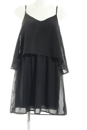 Vero Moda Chiffon jurk zwart Boho uitstraling