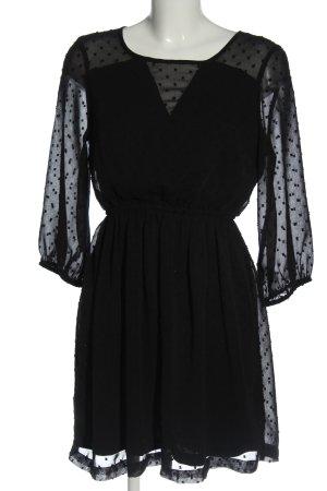 Vero Moda Cocktailkleid schwarz Punktemuster Elegant
