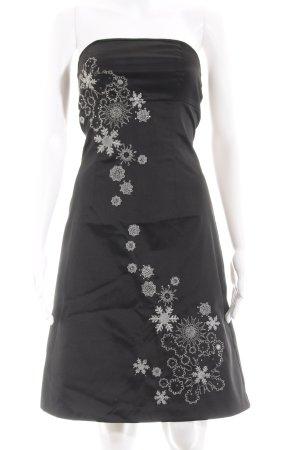 Vero Moda Cocktailkleid schwarz-weiß Elegant