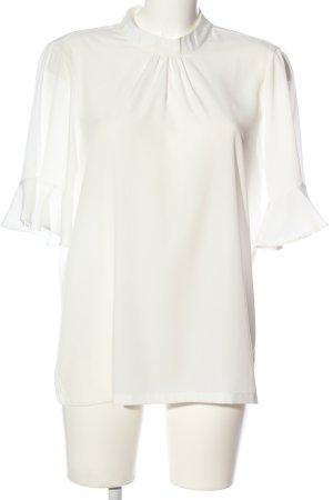 Vero Moda Bluzka marszczona biały W stylu biznesowym