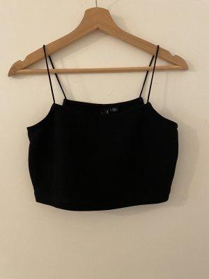 Vero Moda Crop Top M 38 Schwarz Trägertop Spagettiträger Cropped Bauchfrei Oberteil Shirt