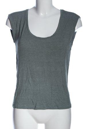Vero Moda Camicia cropped grigio chiaro motivo a righe stile casual