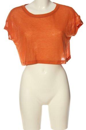 Vero Moda Camicia cropped arancione chiaro puntinato stile casual