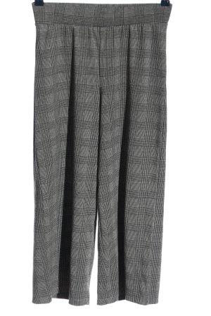 Vero Moda Falda pantalón de pernera ancha gris claro-negro estampado a cuadros