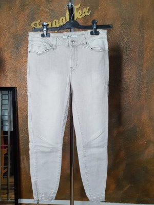 vero moda denim 3/4 Length Jeans light grey