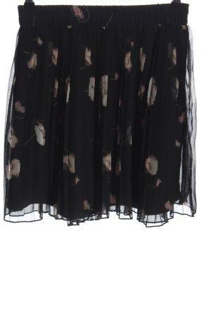 Vero Moda Plisowana spódnica czarny-kremowy Na całej powierzchni