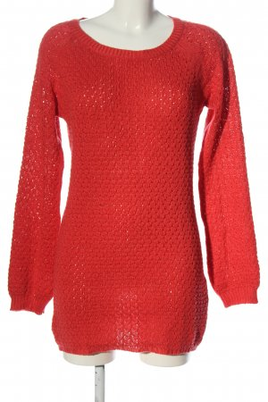 Vero Moda Feinstrickpullover rot Zopfmuster Elegant