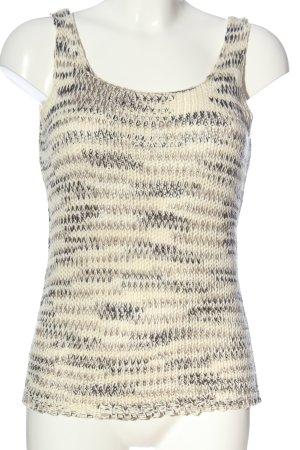 Vero Moda Sweter bez rękawów z cienkiej dzianiny kremowy-różowy Melanżowy