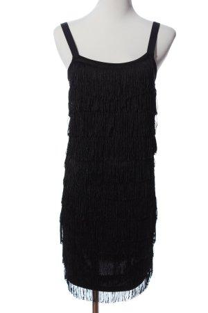 Vero Moda Fransenkleid schwarz extravaganter Stil