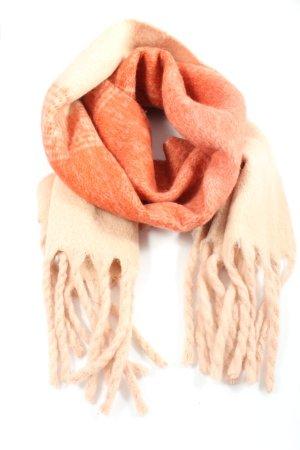 Vero Moda Bufanda de flecos crema-naranja claro look casual