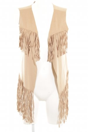 Vero Moda Fransenweste camel Boho-Look