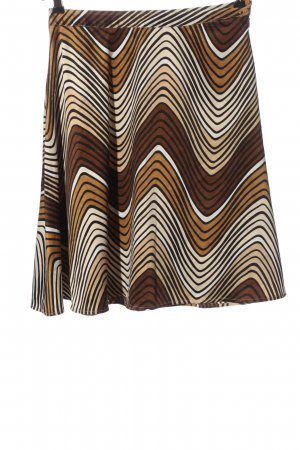 Vero Moda Flared Skirt brown-natural white abstract pattern casual look
