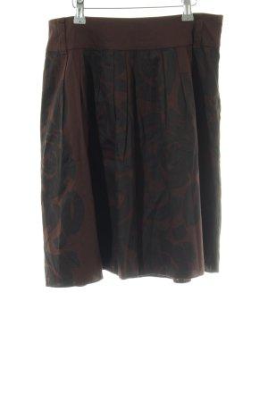 Vero Moda Glockenrock braun-schwarz abstraktes Muster Casual-Look