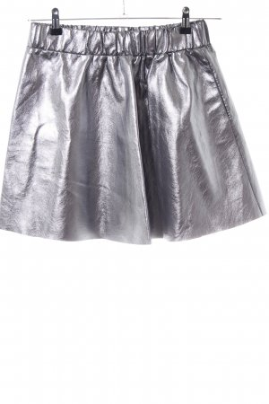 Vero Moda Flared Skirt silver-colored wet-look