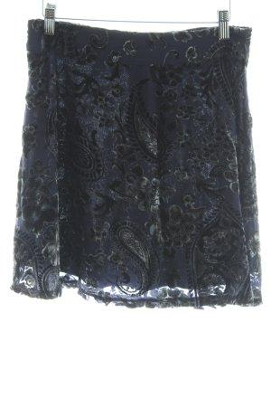 Vero Moda Glockenrock dunkelblau Samt-Optik