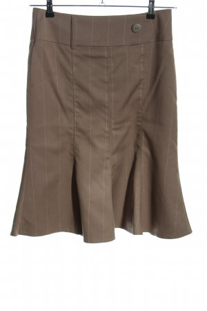 Vero Moda Godet Skirt brown striped pattern business style