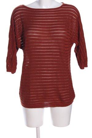 Vero Moda Jersey de punto grueso rojo estampado a rayas look casual