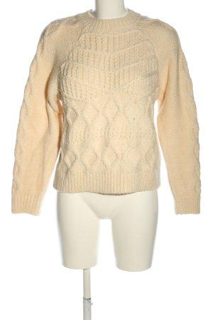 Vero Moda Sweter z grubej dzianiny kremowy Warkoczowy wzór W stylu casual