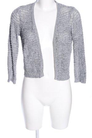 Vero Moda Crochet Cardigan light grey flecked casual look