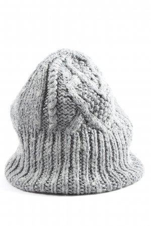 Vero Moda Crochet Cap light grey cable stitch casual look