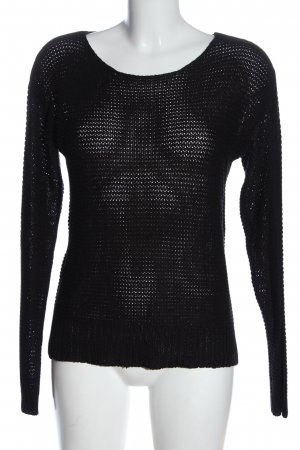 Vero Moda Crochet Sweater black casual look