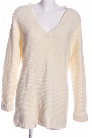 Vero Moda Crochet Sweater cream casual look