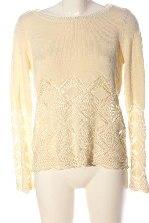 Vero Moda Pullover all'uncinetto crema punto treccia stile casual