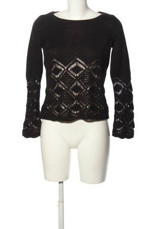 Vero Moda Gehaakte trui zwart casual uitstraling