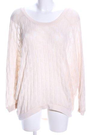Vero Moda Jersey de ganchillo blanco puro punto trenzado look casual