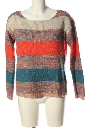 Vero Moda Szydełkowany sweter Wzór w paski W stylu casual