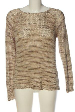 Vero Moda Jersey de ganchillo crema-marrón moteado look casual