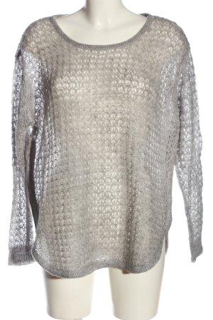 Vero Moda Gehaakte trui lichtgrijs casual uitstraling