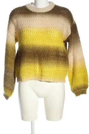 Vero Moda Crochet Sweater primrose color gradient casual look