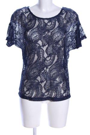 Vero Moda Gehaakt shirt blauw casual uitstraling