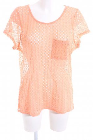 Vero Moda Gehaakt shirt licht Oranje casual uitstraling