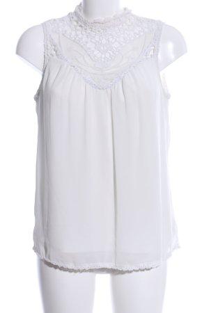 Vero Moda Camicetta all'uncinetto bianco elegante