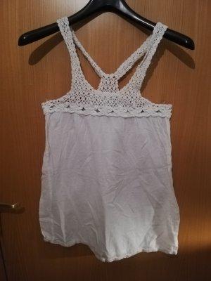 Vero Moda Crochet Top white cotton