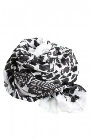 Vero Moda Fazzoletto da collo nero-bianco stampa integrale stile casual