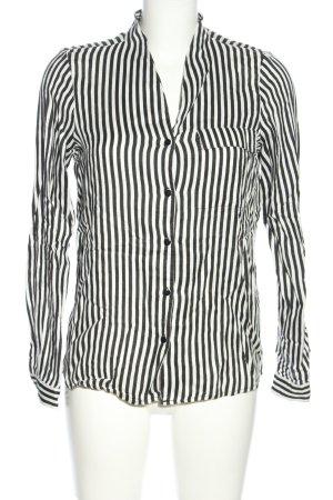Vero Moda Hemd-Bluse schwarz-weiß Streifenmuster Casual-Look