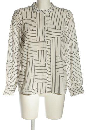 Vero Moda Hemd-Bluse wollweiß-schwarz Allover-Druck Business-Look