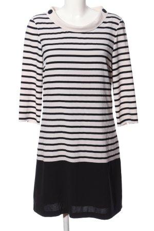 Vero Moda Blusenkleid weiß-schwarz Streifenmuster Casual-Look
