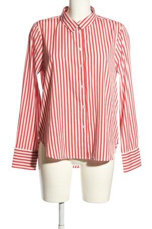 Vero Moda Hemd-Bluse rot-weiß Streifenmuster Business-Look