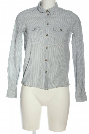 Vero Moda Hemd-Bluse blau-wollweiß Streifenmuster Casual-Look